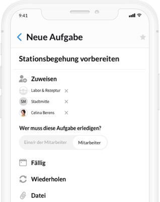 Screenshot Ankündigungen